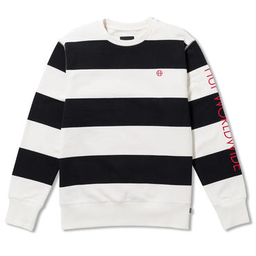 HUF CATALINA STRIPE CREW FLEECE-BLACK-