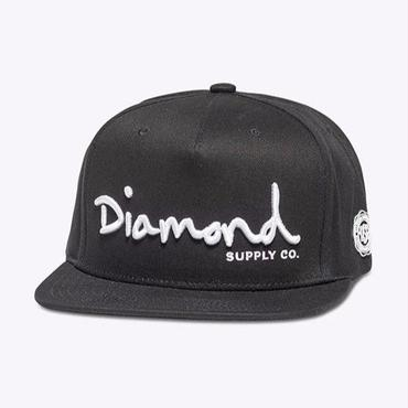 Diamond Supply Co. OG SCRIPT SNAPBACK-BLACK