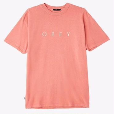 OBEY Novel OBEY Basic Pigment Tee-Dusty Dark Rose
