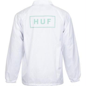 HUF BAR LOGO COACH JACKET-WHITE-