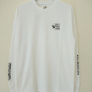 THE QUIET LIFE STRESSED OUT LONG SLEEVE TEE-White-