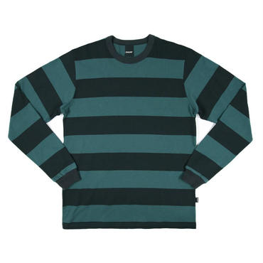 ONLY NY Rugby Stripe L/S T-Shirt-Green-