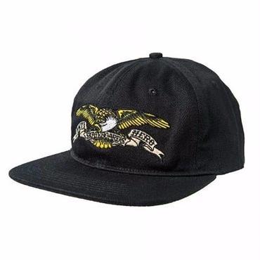 Anti Hero Eagle Embroidered 6-Panel Snapback Hat-Black