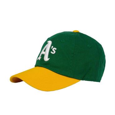 AMERICAN NEEDLE MLB 6PANEL CAP Oakland Athletics -GREEN/YELLOW