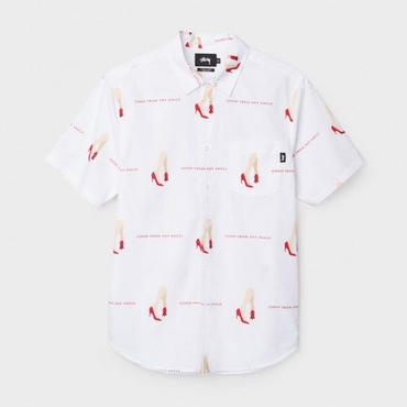 STUSSY GOOD FROM ANY ANGLE SHIRT-WHITE
