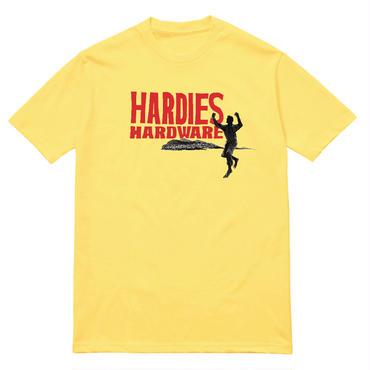 HARDIES HARDWARE RUNNING MOUNTAINS TEE-YELLOW