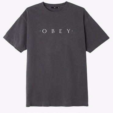 OBEY Novel OBEY Basic Pigment Tee-Dusty Black