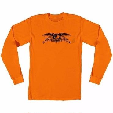 Anti Hero Basic Eagle Pocket Long Sleeve T-Shirt-Orange/Black