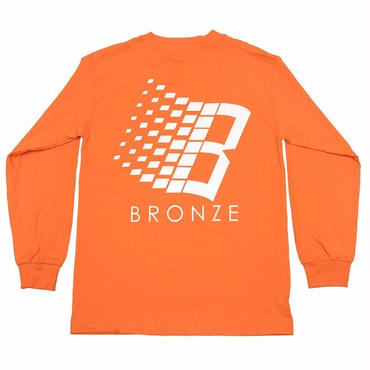 BRONZE 56K B LOGO L/S TEE-ORANGE