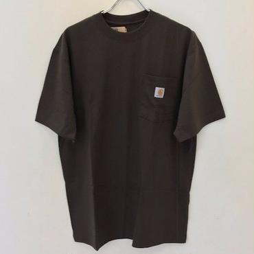 CARHARTT WORKWEAR POCKET T-SHIRT K87-Dark Brown