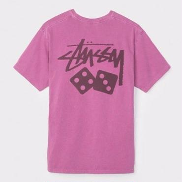 STUSSY DICE PIGMENT DYED TEE-BERRY