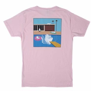 RIPNDIP A NERMAL SPLASH POCKET TEE-LIGHT PINK