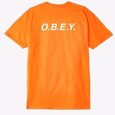 OBEY O.B.E.Y. Premium Tee-Orange