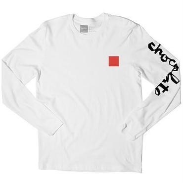 CHOCOLATE SKATEBOARDS  CHUNK & SQUARE L/S-WHITE