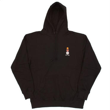 QUARTER SNACKS EMBROIDERED HOODY-BLACK