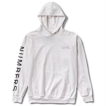 NUMBERS EDITION EDITION SYMBOL  PULLOVER HOODIE-WHITE-