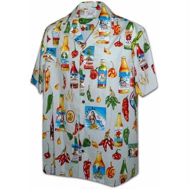 "Pacific Legend Hawaiian Shirts""Hot Sauce""-Cream"