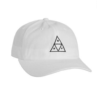 HUF TRIPLE TRIANGLE CURVE BRIM HAT-WHITE