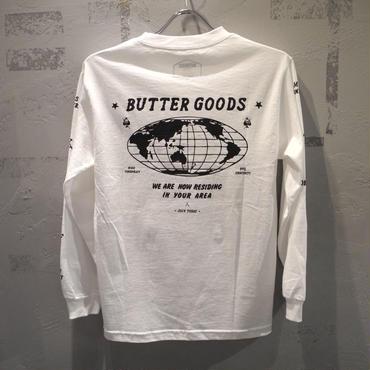 BUTTER GOODS SKULL L/S T SHIRT WHITE