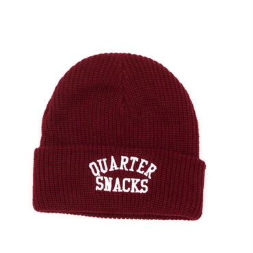 QUARTER SNACKS ARCH BEANIE-BURGANDY
