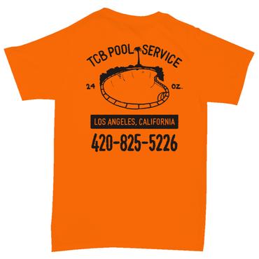 Tall Can Boys POOL SERVICE TEE-ORANGE