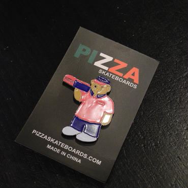 PIZZA SKATEBOARDS BEAR PIN