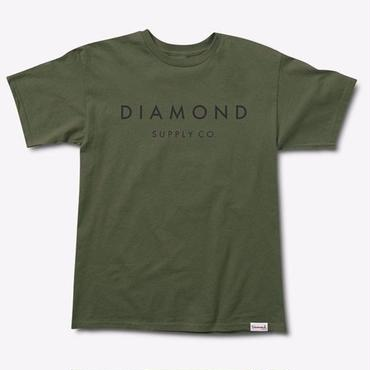 Diamond Supply Co. STONE CUT TEE-Military green