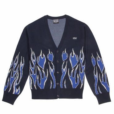LIFE'S A BEACH LAB Flames Cardigan-Blue