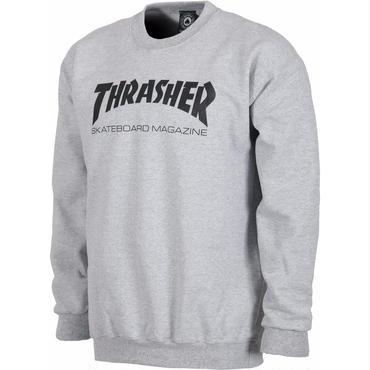 THRASHER SKATE MAG CREWNECK  Grey