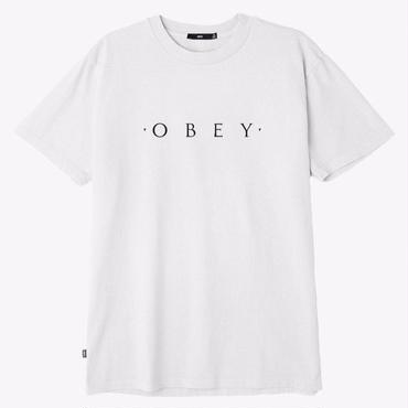 OBEY Novel OBEY Basic Pigment Tee-White