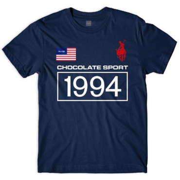 CHOCOLATE SKATEBOARDS ROLO 94 TEE-NAVY