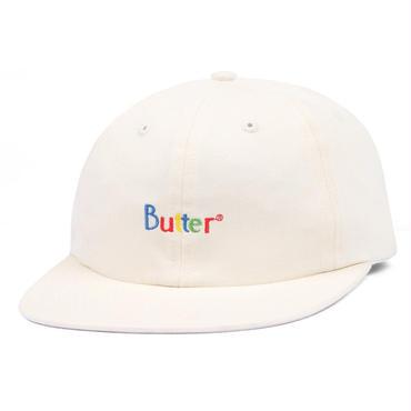BUTTER GOODS WEB CLASSIC LOGO 6 PANEL CAP-WHITE