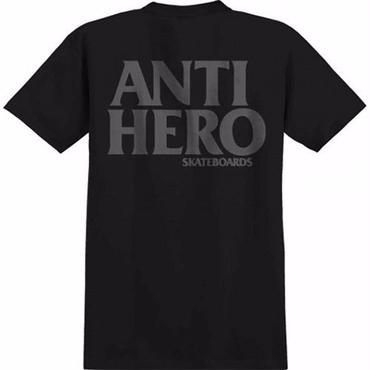 Anti Hero BLACK HERO T-SHIRT-BLACK/REFLECTIVE PRINT