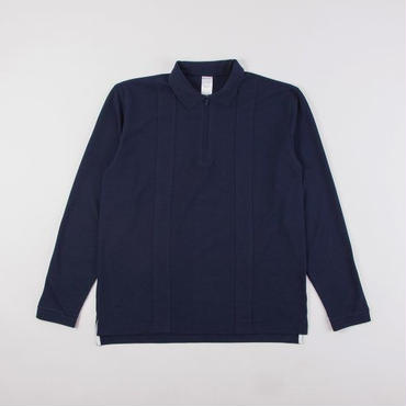 GRIND LONDON LS POLO SHIRT - NAVY