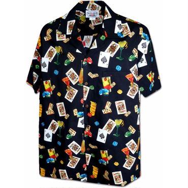 "Pacific Legend Hawaiian Shirts""Cards""-Black"