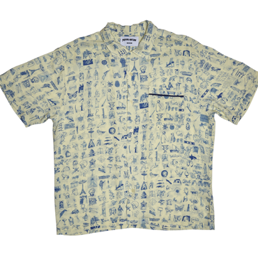 FUCKING AWESOME Dictionary Cabana Button Down - Yellow
