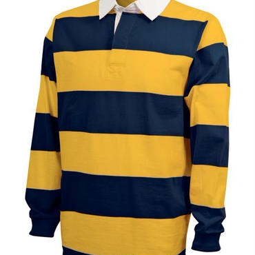 CHARLES RIVER APPAREL CLASSIC RUGBY SHIRT - NVY/GLD
