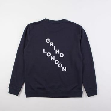 GRIND LONDON SQUAD SWEATSHIRT-NAVY