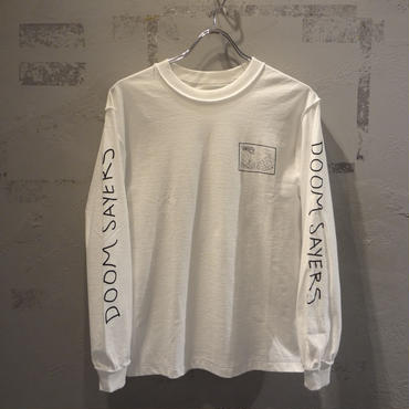DOOM SAYERS Snake Shake Long Sleeve Tee - White