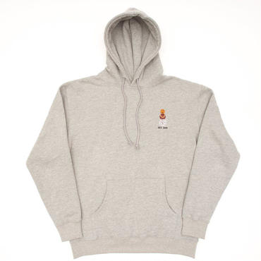 QUARTER SNACKS EMBROIDERED HOODY-GRAY
