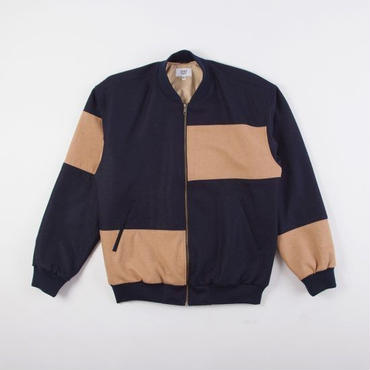 GRIND LONDON PATCHWORK WOOL BOMBER JACKET