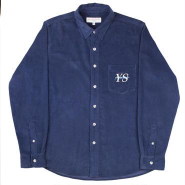 YARDSALE Navy YS corduroy shirt