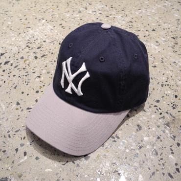 AMERICAN NEEDLE MLB 6PANEL CAP NEWYORK YANKEES - NAVY/GRAY アメリカンニードル MLB 6パネル キャップ ニューヨークヤンキース