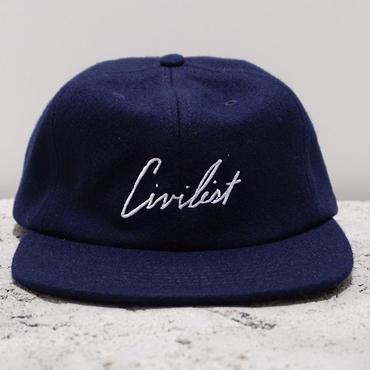 Civilist Melton Script Cap – Navy