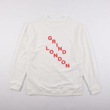 GRIND LONDON SQUAD SWEATSHIRT-WHITE