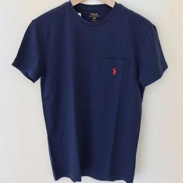 POLO RALPH LAUREN 1POINT POCKET TEE-FRENCH NAVY #4006