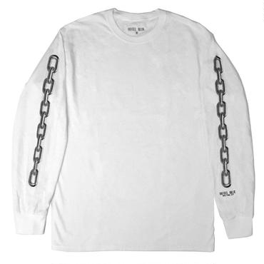 HOTEL BLUE CHAINS LONGSLEEVE WHITE