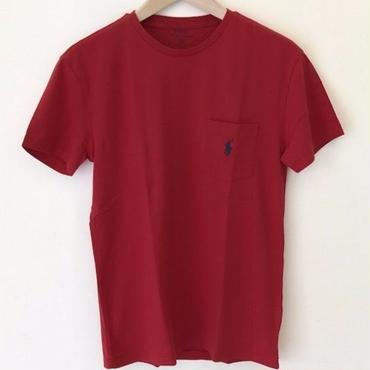 POLO RALPH LAUREN 1POINT POCKET TEE-M RED #4001