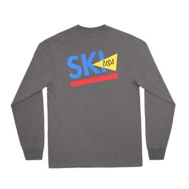 ONLY NY Ski USA L/S T-Shirt - Charcoal