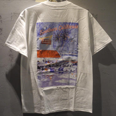 IN-N-OUT BURGER 1992 YOUTH AT THE BEACH T shirt -White